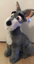 "NWT Disney Store TRAMP -The Lady and The Tramp Big Plush Toy 16"" Gray."