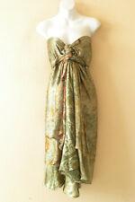 E673 Vintage Silk Magic 36 Sarong Pareo Wrap Skirt Tube Maxi Women Summer Dress