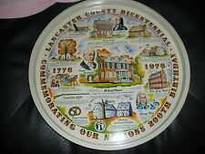 vintage Lancaster County Bicentennial 200th USA birthday 1776-1976 metal tray