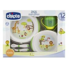 CHICCO Set Pappa 12m+ Meal Set Mahlzeiten Piatto Termico, Posate, Bicchiere