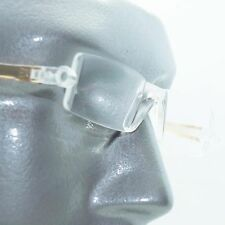 Reading Glasses No-See Frameless Lightweight Caramel Color Accent Sides +1.50