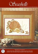 Seashells embroidery kit - Irene Junkuhn - Rajmahal art silk thread
