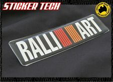 RALLIART GEL BADGE STICKER EMBLEM SUITS EVO V X LANCER MITSUBISHI MAGNA MIRAGE