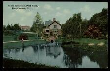 Postcard PORT CHESTER NY Pease Family House/Home, Post Road 1907?