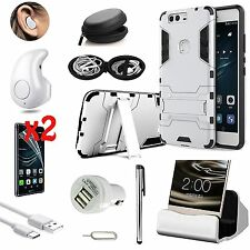 Case Cover+Dock Charger+Wireless Headset Accessory Bundle For Huawei P9 Lite