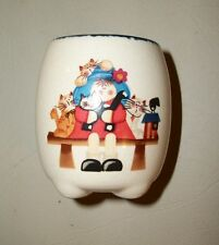 "New w/tag: 2.5"" Mini ceramic ""filled jar"" candle with cats, girl on bench, cute"