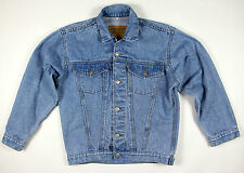 Sale Levi 's 501 Vintage Mens Button Jean Jacket Giacca Uomo Taglia L Blu Top!!!