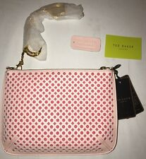 BNWT TED BAKER WOMEN'S DOMINCA PINK LEATHER CLUTCH. Gift Idea!