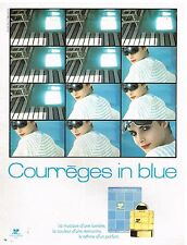 Publicité Advertising 1982 Parfum Courrèges in Blue