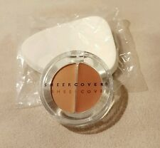 Sheer Cover Duo Concealer TAN  DARK 1.5g SMALL SIZE! 30 DAY SUPPLY NEW & SEALED!