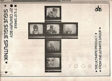 SIGUE SIGUE SPUTNIK 21st Century Boy 1986 UK Press ADVERT 12x8 inches