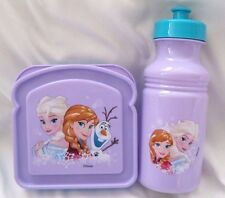 Disney's Frozen Elsa,Anna,&Olaf 2-Piece  Lunch Sandwich containers+water bottle