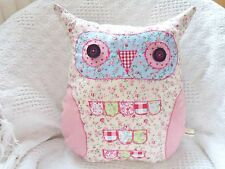 Owl Cushion Kit Complete Sewing Craft Kit Patchwork Fabric Owl Kit Sewintocrafts