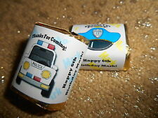 GLOSSY POLICE COP PERSONALIZED HERSHEY NUGGET WRAPPERS BIRTHDAY PARTY FAVORS