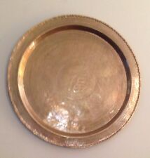 """29.5"""" Large Brass Tray, table top or wall hanger Made in Hong Kong Asian Chinese"""