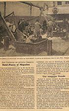SAINT-PIERRE & MIQUELON EXTENSION DES PECHERIE TERRE NEUVE ARTICLE PRESSE 1923