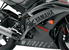 YAMAHA R6 SET DARKGRAY STICKERS DECALS 600 1000 YZF