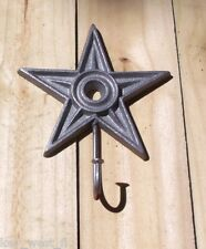 Cast Iron ~ Vintage STAR COAT HOOK HANGER Wall Decor ~ by PLD