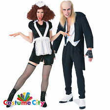 Les couples officiel rocky horror riff raff & magenta halloween fancy dress costume