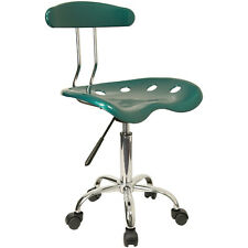 Flash Furniture Vibrant Green & Chrome Computer Task Chair w/Tractor Seat NEW