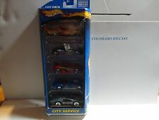 Hot Wheels City Service 5 Car Gift Pack w/Blue Side Kick