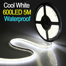 5M 3528 SMD 600 led Bande Blanc Flexible Lamp Strip Ruban Étanche Waterproof 12V