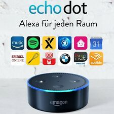 Amazon Echo Dot ⇒ European power plug ⇐ German version (2nd Gen) ✱ black ✱ Alexa