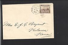 HONOLULU, HAWAII 1897 KINGDOM COVER, #75, TO KILAUEA, KAUAI. VF BACKSTAMP.