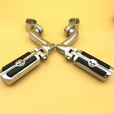 "Chrome 1"" Skull FootPeg For Honda GoldWing VTX1300 Shadow Valkyrie Triumph"
