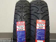 "TWO TIRE SET MOTORCYCLE TIRES 130/90-16 FRONT 140/90-16 REAR  K657  16"" 16"""