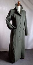 JIGSAW full length cashmere and wool Winter coat in sage grey 10 chest 36
