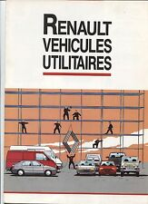 N°6376 / RENAULT gamme véhicules utilitaires : express,R5,Traffic,Master...1989