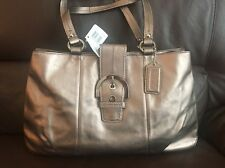 NWT Coach Soho Leather East West Tote Shoulder Bag F18751 Bronze $378