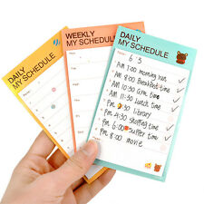 1Pcs Schedule Sticker Bookmark Memo Note Pads Plan Check Sticky Post It Pad W2F