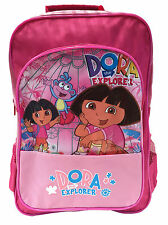 Dora The Explorer Boots Pink School Girls Large Bag Backpack