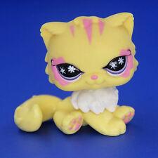 *Littlest Pet Shop* Hasbro LPS Yellow Rainbow Persian Postcard Cat Kitten GAO