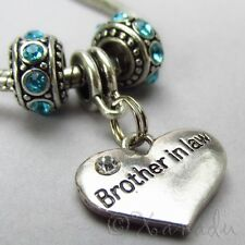 Brother In Law Charm Pendant And Birthstone European Beads For Bracelets