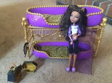 MONSTER HIGH ROOM TO HOWL DEAD TIRED CLAWDEEN WOLF BUNK BED, Incomplete