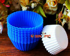 10X Soft Silicone Round Cake Muffin Chocolate Cupcake Liner Baking Cup Mold ZNU