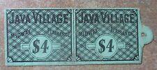 1893 WORLD'S COLUMBIAN EXPOSITION JAVA VILLAGE TICKET-GREEN $4 VERY SCARCE