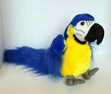 "Fiesta Blue Yellow Parrot Bird Macaw Plush Stuffed Animal 9"" Pirate Costume Prop"