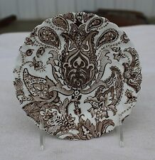 "Johnson Bros. Ironstone China ""Paisley"" Bread Plate Brown"