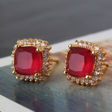 Wedding ruby 24k yellow gold filled luxury HOT SALE smart stud earring