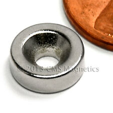 "N42 Disk Neodymium Magnet 3/8x1/8"" w/ 1 Countersunk Hole for #4 Screw 500 PC"