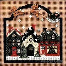 "Mill Hill Buttons Beads Counted Cross Stitch Kit 5"" x 5"" ~ CHRISTMAS VILLAGE #78"
