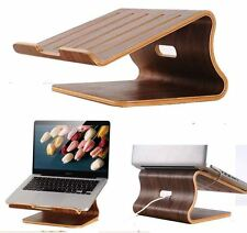 New wood cooler docking station Laptop Wood Stand Holder for MacBook pro and air
