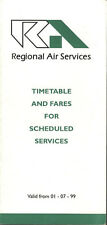 Regional Air Services system timetable 7/1/99 [5076]