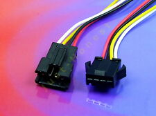 KIT BUCHSE+STECKER 4 polig / ways verdrahtet  Male+Female Connector wired #A199
