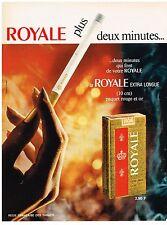 PUBLICITE  1968    ROYALE  cigarette extra longue