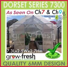 6mm ALUMINIUM POLYCARBONATE Garden GREENHOUSE Shade GREEN HOT HOUSE Shed 7.3S